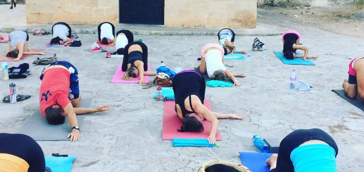 Start in the week with Yoga at Bellver Castle